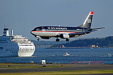 US Airways 737-3B7 N355US