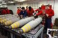 US Navy 030327-N-1328C-517 Aviation Ordnancemen assemble bombs aboard USS Theodore Roosevelt (CVN 71).jpg