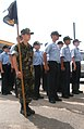 US Navy 030501-N-7058E-001 Members of the Naval Sea Cadet Corps, Marianas Division, stand at attention prior to beginning a tour of Andersen Air Force Base.jpg