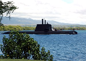 US Navy 040823-N-3019M-003 The Australian Collins-class submarine, HMAS Rankin (SSK 78), enters Pearl Harbor for a port visit after completing exercises in the Pacific region