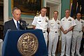 US Navy 060525-N-9543M-002 New York City Mayor Michael Bloomberg welcomes the sea services to New York City Fleet Week 2006.jpg