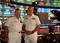 US Navy 060526-N-1371G-007 Commanding Officer Captain Joseph Sensi, left, and Executive Officer Captain James Gregorski of the amphibious assault ship USS Kearsarge (LHD 3).jpg