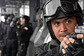 US Navy 060826-N-8298P-026 A Chilean Naval Coast Guard's Visit Board Search and Seizure (VBSS) team conducts training aboard the Chilean M-class frigate Blanco Encalada (FF 15), during exercise PANAMAX 2006.jpg