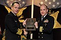 US Navy 061114-N-0696M-060 Chief of Naval Operations (CNO) Adm. Mike Mullen presents Cmdr. Brian T. Howes, commanding officer USS La Jolla (SSN 701), the Vice Admiral James B. Stockdale Award.jpg