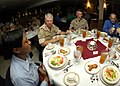 US Navy 071029-N-6524M-006 Chief of Naval Operations (CNO) Adm. Gary Roughead speaks with Sailors and Marines of Carrier Strike Group 12 during a formal dinner.jpg
