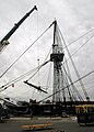 US Navy 071129-N-9793B-001 Members of the National Historical Center Detachment Boston remove the foresail yard from USS Constitution.jpg
