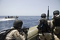 US Navy 090602-N-0743B-031 Members of the guided-missile cruiser USS Gettysburg (CG 64) visit, board, search and seizure (VBSS) team and members of U.S. Coast Guard Maritime Safety and security Team 91112 conduct maritime secur.jpg