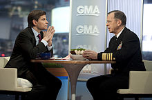 Chairman Of The Joint Chiefs Of Staff Adm Mike Mullen Is Interviewed By Good Morning Americas Stephanopoulos