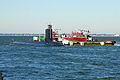 US Navy 111021-N-NK458-032 The Virginia-class attack submarine Pre-Commissioning Unit (PCU) California (SSN 781) arrives at Naval Station Norfolk a.jpg