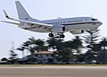 US Navy 111021-N-WD757-068 A C-40 Clipper assigned to Fleet Logistics Support Squadron (VR) 57 lands at Naval Air Station North Island.jpg