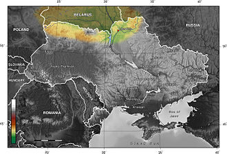 Belarus–Ukraine border - Polesian lowland