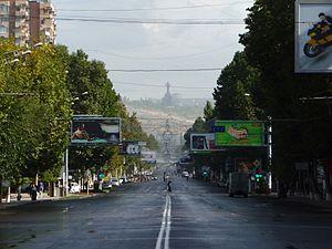 Mashtots Avenue - Image: Ulice Mesropa Maštoce