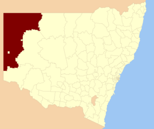 Unincorporated Far West Region - Location in New South Wales