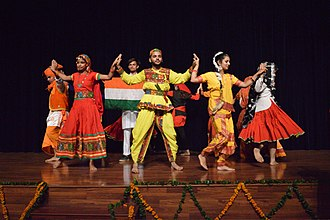 "Unity in diversity - Participants at WikiConference India 2016 perform a dance entitled ""Unity in Diversity""."