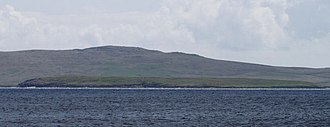 Urie Lingey - Urie Lingey with Fetlar in the background.