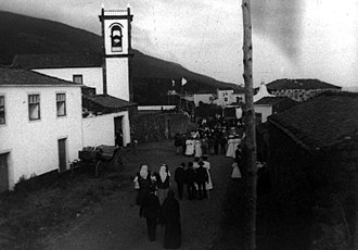Urzelina - Urzelina as seen in 1910, during the popular festivals of the time