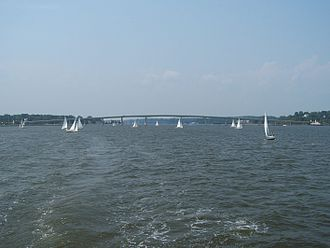 Severn River (Maryland) - Severn River with the Naval Academy Bridge in the distance