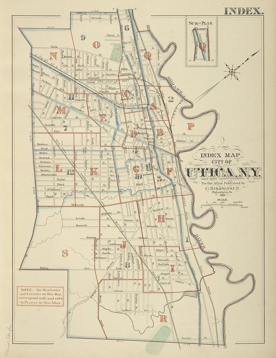 Utica index map