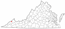 Location of Haysi, Virginia