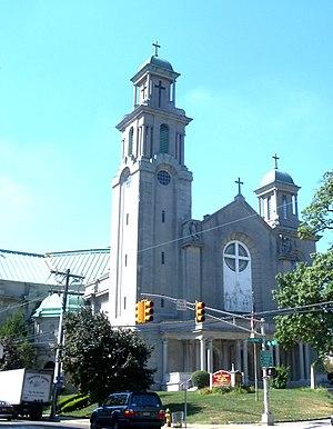 Vailsburg, Newark - Sacred Heart Church on the border between Upper and Lower Vailsburg