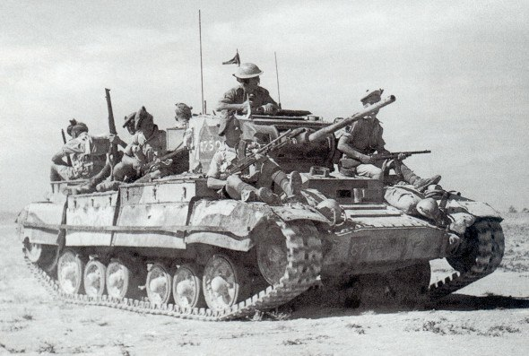 Valentine tank Mk3 desert