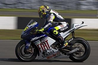 2008 Grand Prix motorcycle racing season - Image: Valentino Rossi 2008 Donington Park