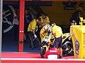 Valentino Rossi at the Camel Yamaha Team garage 2006 Mugello.jpg