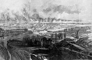 Bombardment of Valparaíso - Image: Valparaiso Bombardment