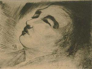 English: Vincent van Gogh on his deathbed Fran...