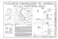 Vanadium Corporation of America (VCA) Naturita Mill, 3 miles Northwest of Naturita, between Highway 141 and San Miguel River, Naturita, Montrose County, CO HAER COLO,43-NATU.V,1- (sheet 1 of 4).png