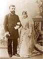 Vasily Tskhomelidze with his wife Olga Motsonelidze. Kutaisi. 1895.jpg