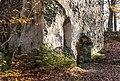 Velden am Wörther See Köstenberg Ruine Hohenwart Burgkapelle Fenster und Portal 08112018 5304.jpg