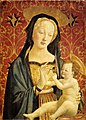 Veneziano-madonna and child - burgundy xmas.jpg