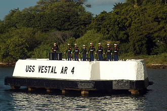 USS Vestal - The Vestal mooring quay memorial at Pearl Harbor