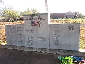 Encinal, Texas - Image: Veteran's Monument in Encinal, TX IMG 2460