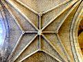 Viarmes (95), église Saint-Pierre-Saint-Paul, bas-côté sud, voûte de la 4e travée.JPG