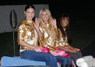 Selita Ebanks - Fellow Victoria's Secret Angels Adriana Lima (left), Marisa Miller and Ebanks ride in the Guantanamo Bay Christmas Parade, December 2007.