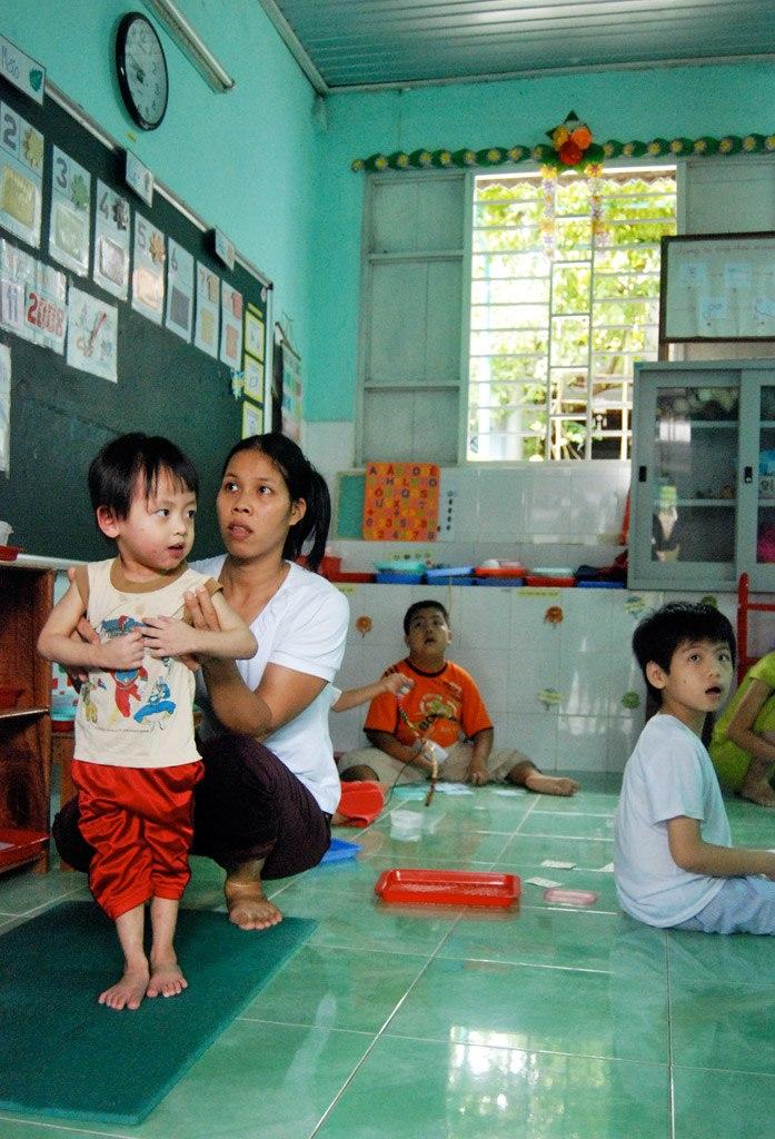 Vietnam phusical therapy school orphanage
