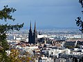 View of Clermont-Ferrand with its black cathedral.jpg