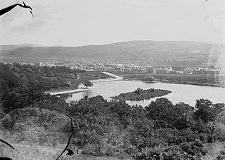 View of Llandrindod and lake
