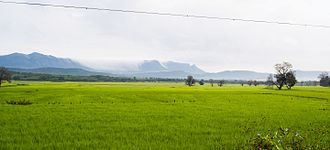 Chikmagalur district - View of Mullayanagiri and Bababudangiri, Chikmagalur