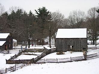 Old Sturbridge Village - View of the Center Village section of Old Sturbridge Village