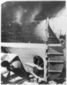 View of the stern and rudder of the Olympic in drydock.png