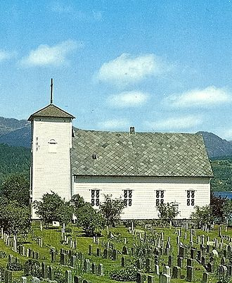 Kvam - View of Vikøy Church