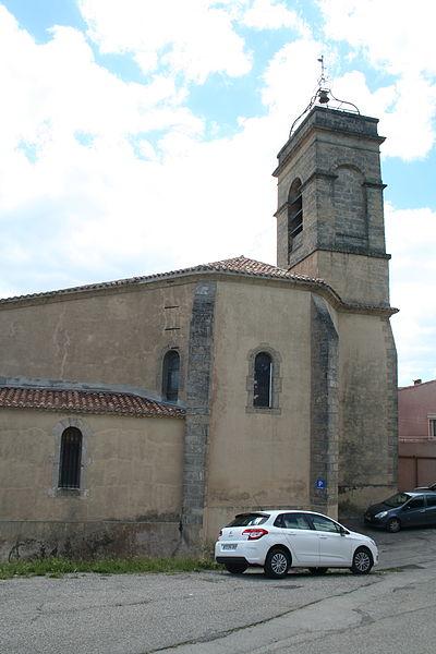 Villeveyrac (Hérault) - clocher de l'église Notre-Dame-de-l'Assomption.