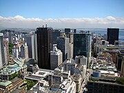 Vista aérea Centro do Rio de Janeiro RJ
