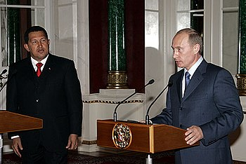 Vladimir Putin with Hugo Chavez 27 July 2006-2