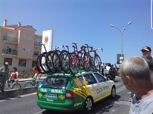 Caja Rural–Seguros RGA - Team Car at the 2010 Volta a Portugal