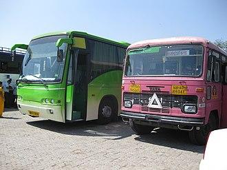 Maharashtra State Road Transport Corporation - Image: Volvo and Tata