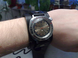 """Vostok watches - The Vostok Komandirskie, marked """"ЗАКАЗ МО СССР"""", meaning """"Ordered by the Ministry of Defence of the USSR"""""""